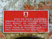 Moorish Castle entrance notice