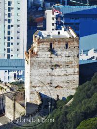 Imagen del Castillo Árabe desde un nivel mas alto