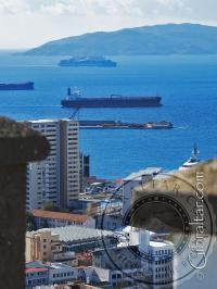Panorama desde el Castillo Árabe en Gibraltar
