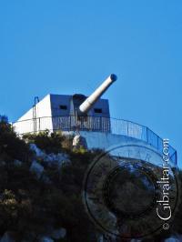 Heavily zoomed photo of O'Hara's Battery from near Europa Point