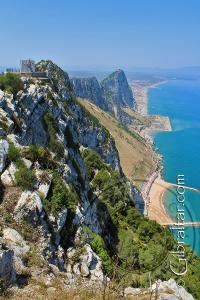 View of the eastern side of Gibraltar from O'Hara's Battery