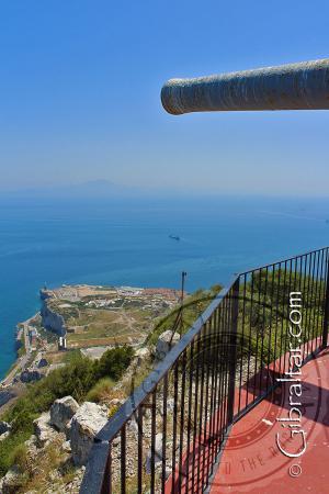 Vista de Punta Europa desde la Batería O'Hara
