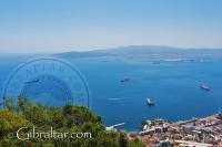 Vista de la Bahía de Gibraltar desde la Batería O'Hara