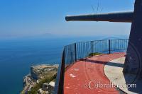 Punta Europa y el cañón de la Batería O'Hara