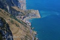 Vista a Catalan Bay desde la Batería O'Hara
