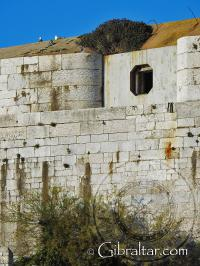 Back wall of Parsons lodge in Gibraltar