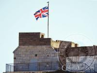 La Fortaleza de Parson y la bandera de Gran Bretaña