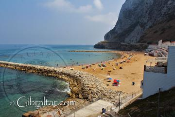 Sandy Bay in Gibraltar