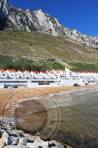 Water Catchment Area at Sandy Bay Beach Gibraltar