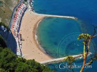 Groynes at Sandy bay beach in Gibraltar