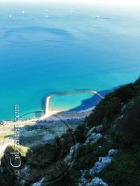 Sandy bay beach taken from above