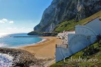 Bahía de Sandy en Gibraltar