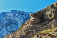 Formaciones rocosas en la Bahía de Sandy Beach, Gibraltar