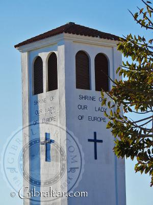 Outside Shrine of Our Lady of Europe in Gibraltar