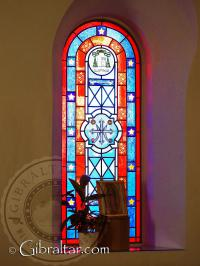 Stain glass window Shrine of Our Lady of Europe