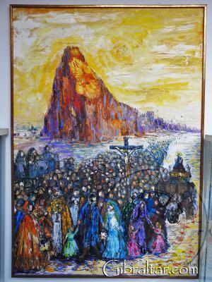 Éxodo de Gibraltar, pintado por Jose Antonio Valdes