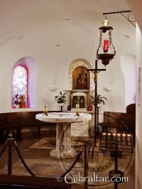 Interior del Santuario de Nuestra Señora de Europa