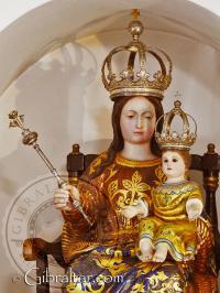 Primer plano de Nuestra Señora de Europa