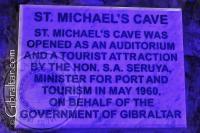 Saint Michael's Cave Entrance Plaque