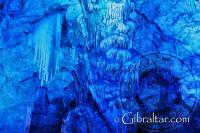 'Frozen waterfall' inside Saint Michael's Cave