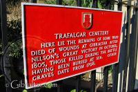 Trafalgar Cemetery Plaque