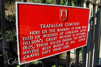 Placa informativa, Cementerio de Trafalgar