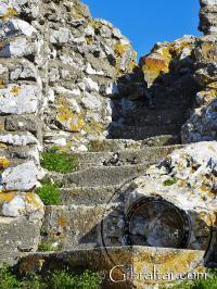 Escaleras en el Upper Rock