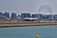 Western beach airport in Gibraltar