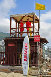 Lifeguards at Western Beach in Gibraltar