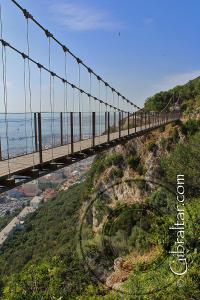 Showing gorge of the Windsor Suspension Bridge