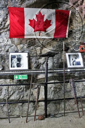 Equipment on display inside World War II Tunnels