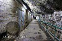 Stores inside the World War II Tunnels in Gibraltar