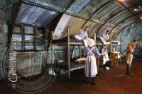 Inside a Nissen Hut within the World War 2 Tunnels