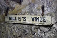 Entrada a Willis's Winze, Túneles de la II Guerra Mundial